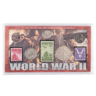 """World War II Coins and Stamps"" Set"