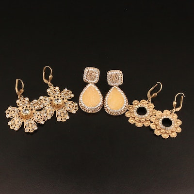Assorted Earrings Featuring La Costa and Rhinestone Accents