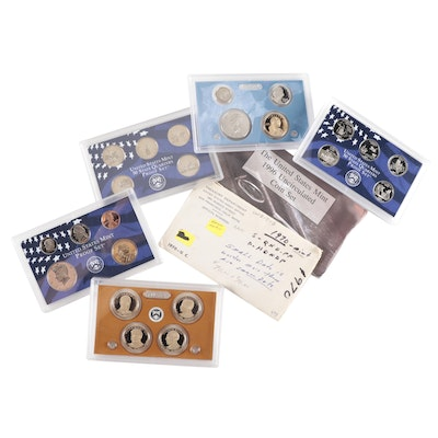 US Mint Uncirculated and Proof Coin Sets