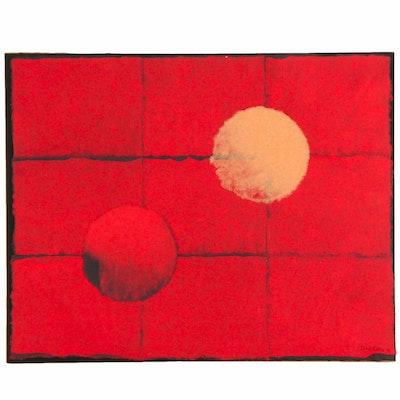 "Diane Keane Handmade Paper Collage ""Float,"" 1994"