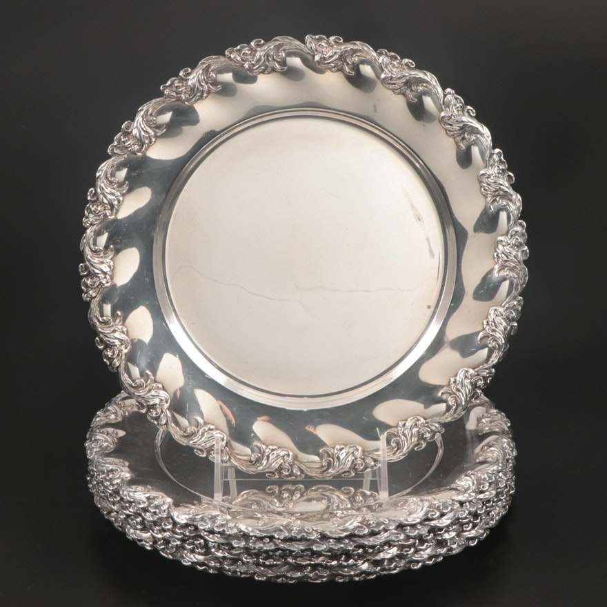 Mauser Manufacturing Co. Sterling Silver Plates, Late 19th/Early 20th Century