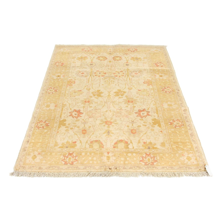 5'1 x 7'9 Hand-Knotted Peshawar Wool Rug