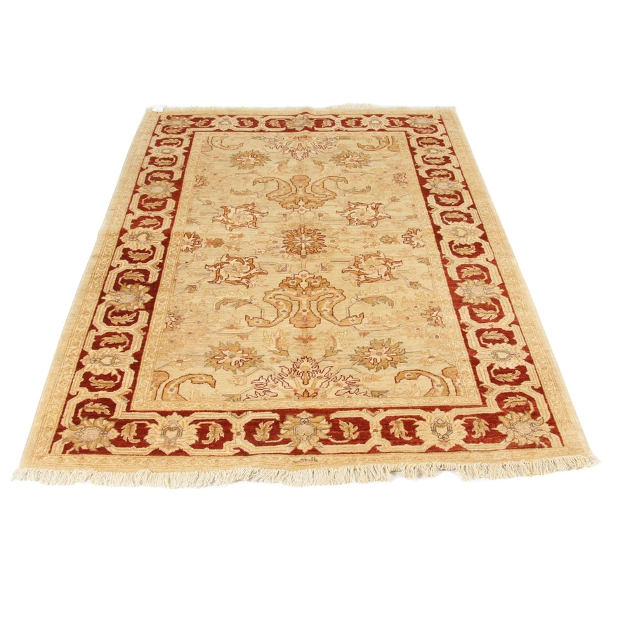 5'2 x 8'2 Hand-Knotted Peshawar Wool Rug