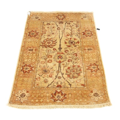 2'11 x 4'7 Hand-Knotted Peshawar Wool Rug