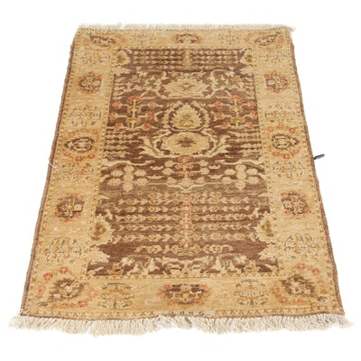 3' x 4'5 Hand-Knotted Peshawar Wool Rug
