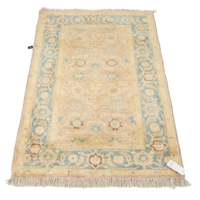 3'2 x 5' Hand-Knotted Peshawar Wool Rug