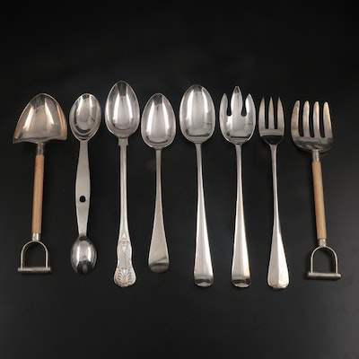 Godinger and Other American and English Silver Plate Serving Utensils
