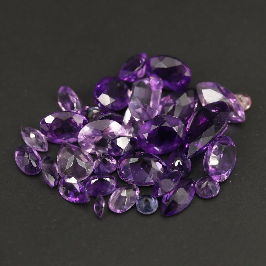 Loose 22.27 CTW Faceted Amethysts