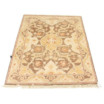 4'1 x 5'8 Hand-Knotted Peshawar Wool Rug