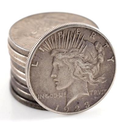 Ten Peace Silver Dollars