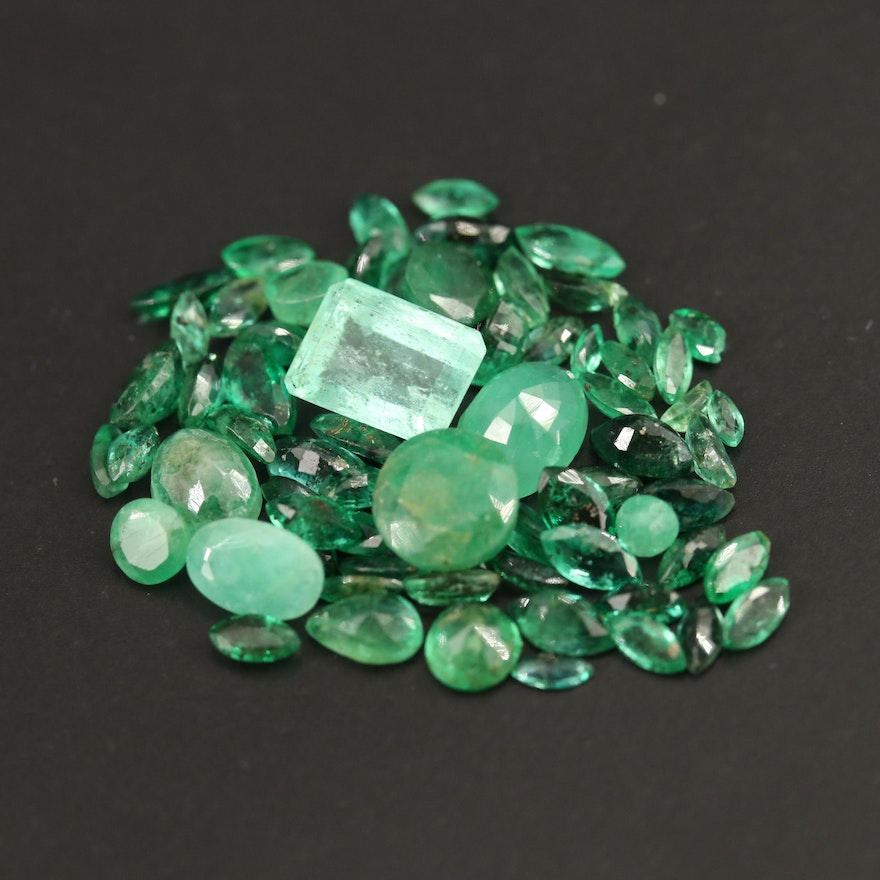 Loose 11.21 CTW Faceted Emeralds