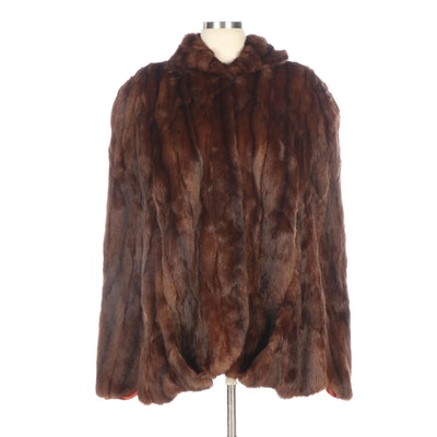 Brown Dyed Squirrel Fur Capelet