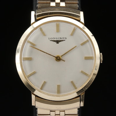 1956 Longines 14K Gold Filled Stem Wind Wristwatch