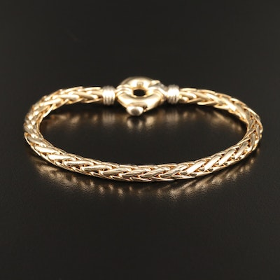 14K Wheat Chain Bracelet