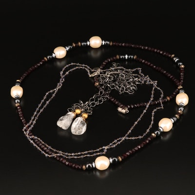 Selection of Jewelry Featuring Sterling Anna Balkin and Sautoir Necklaces