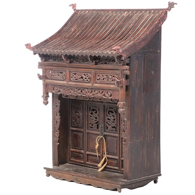 Chinese Hardwood Meditation Shrine, 19th Century