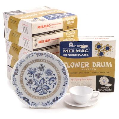 """Mar-Crest Melmac """"Flower Drum"""" Dinnerware in Original Packaging, 1950s"""