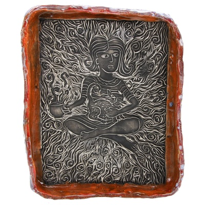 Laura Jean McLaughlin Glazed and Sculpted Earthenware Tray, 2020