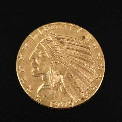 1909-D Indian Head $4 Gold Half Eagle