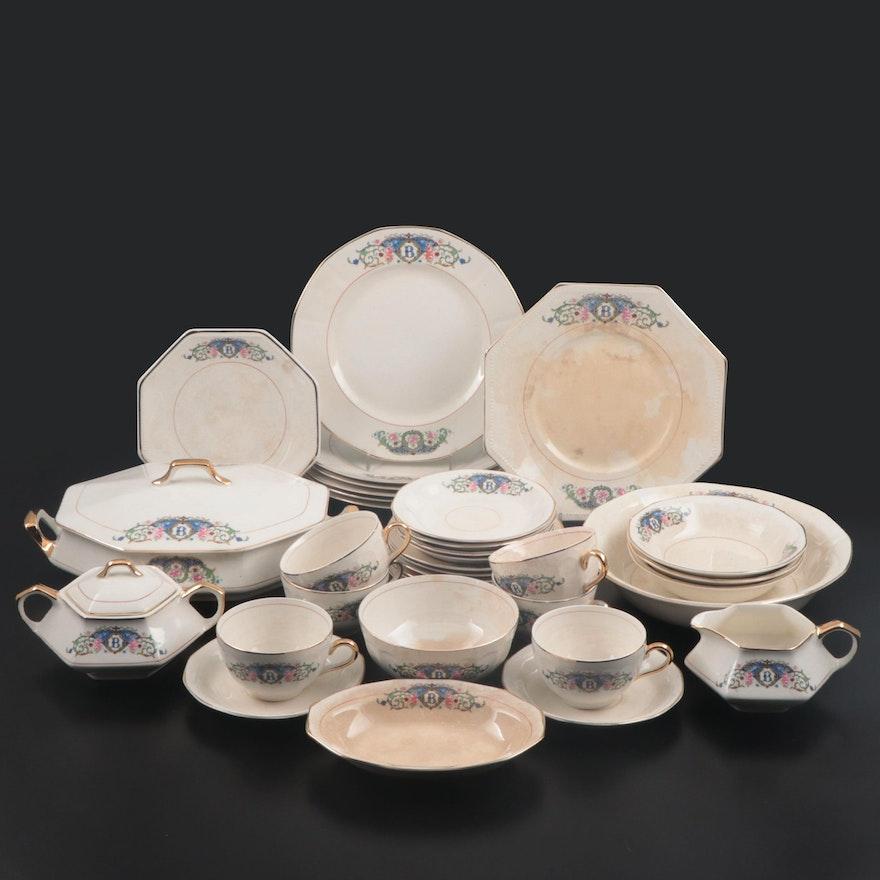 "S.C. Co. ""Martha Washington"" Porcelain Dinnerware, Mid-20th Century"