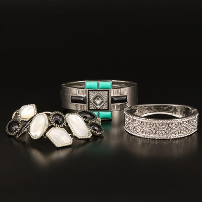 Mother of Pearl and Glass Bracelet Assortment Featuring Lia Sophia and Talbot's
