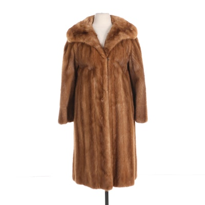 Mink Fur Coat with Shawl Collar by Lazarus
