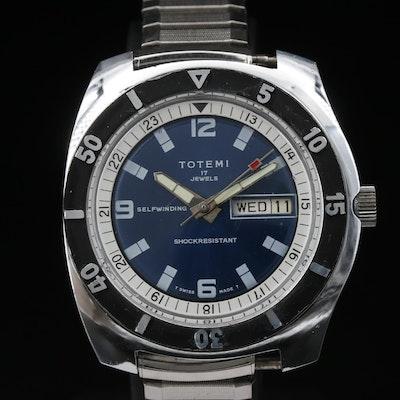 Vintage Totemi Day-Date Dive Stem Wind Wristwatch