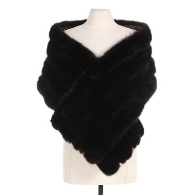 Black Dyed Sable Fur Stole