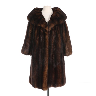 Dyed Sable Fur Coat with Shawl Collar by Roberts-Liebes