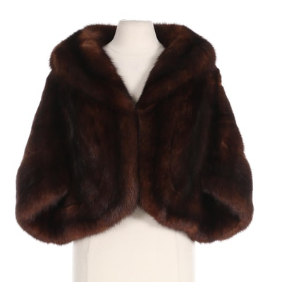 Sable Fur Capelet with Shawl Collar from Bullocks Wilshire
