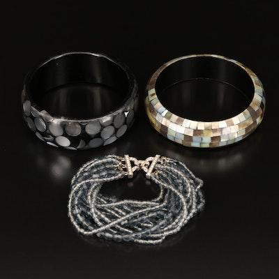 Selection of Bracelets Featuring Marvella Multi Strand Bracelet