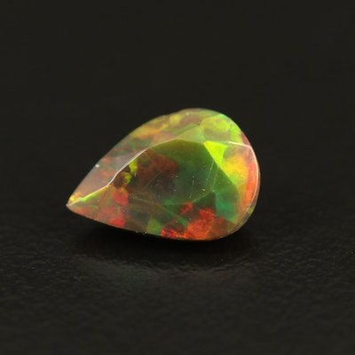Loose 1.38 CT Pear Faceted Opal