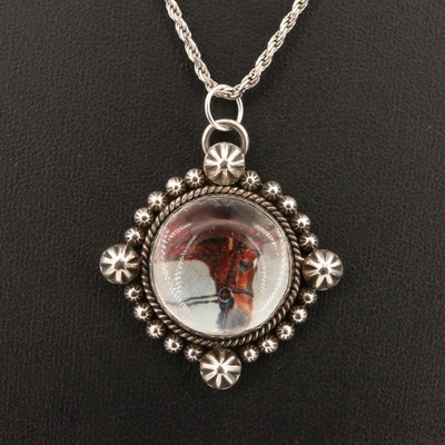 Dan Dodson Sterling Silver Pendant Necklace