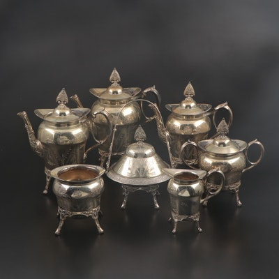 Homan Manufacturing Co. of Cincinnati Chased Silver Plate Tea and Coffee Set