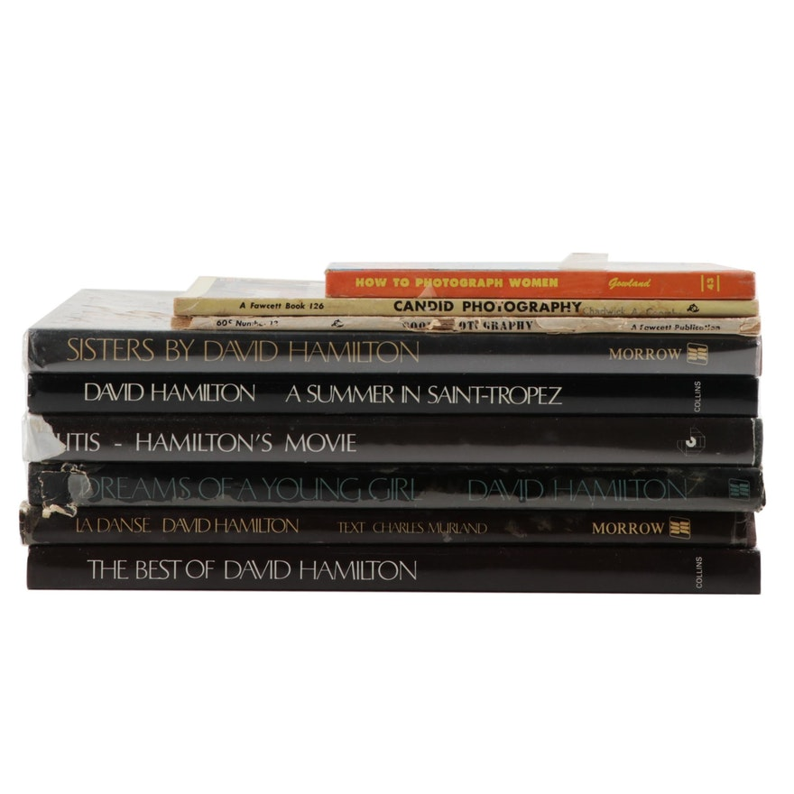 Collection of Photography Books Featuring the Works of David Hamilton
