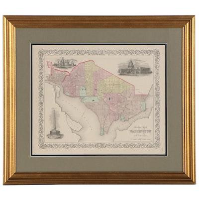 J.H. Colton & Co. Atlas City Map of Washington D.C., 1855