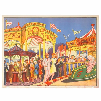 Color Lithograph Poster of Circus, Early-Mid 20th Century