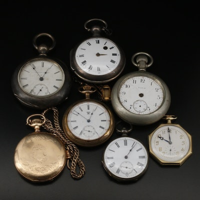 Pocket Watch Collection From Various Swiss and American Companies