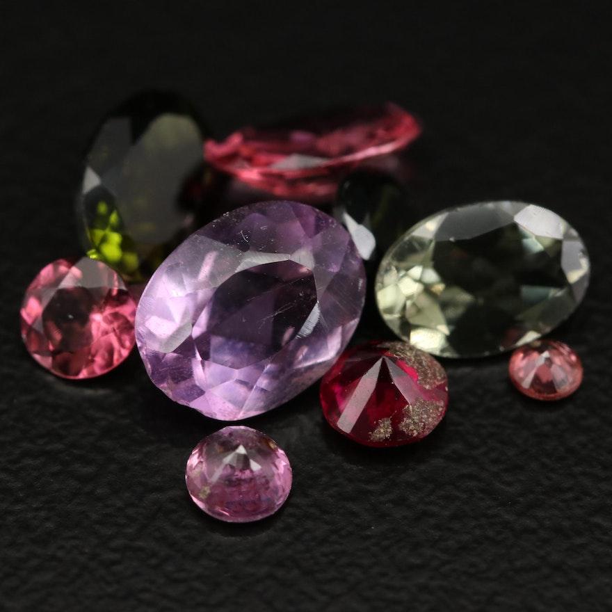 Loose 4.45 CTW Mixed Gemstones Including Tourmaline, Amethyst and Garnet