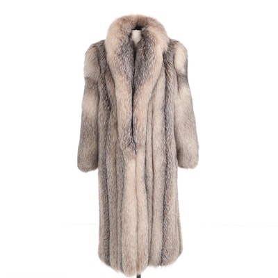 Crystal Fox Fur Full Pelt Full-Length Coat