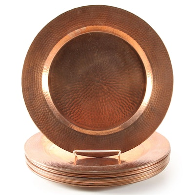 Hammered Copper Charger Plates