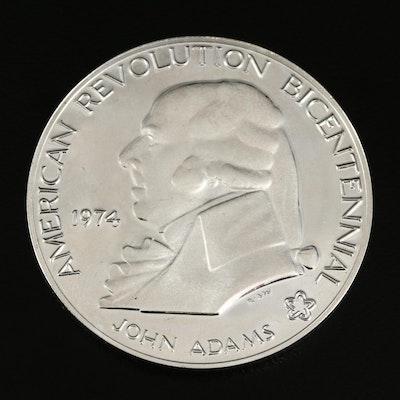 1974 US Mint John Adams Silver Bicentennial Proof Medal