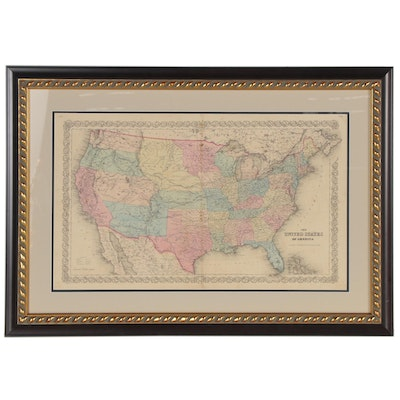 J.H. Colton & Co. Atlas Map of the United States of America, 1855