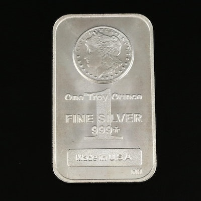 Morgan Dollar-Themed 1-Troy Oz. Fine Silver Ingot