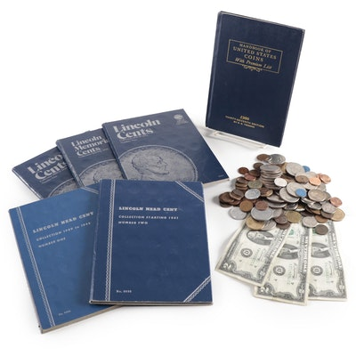 Lincoln Cent Binders, Foreign Coins, Modern and Antique U.S. Coins and Currency