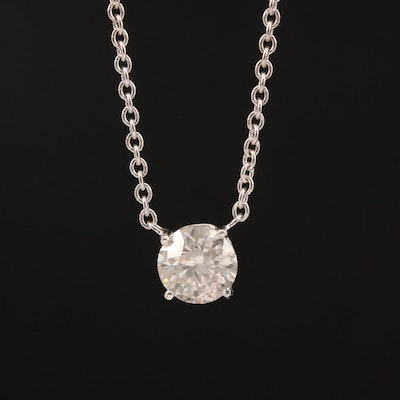 14K 1.09 CT Diamond Solitaire Necklace
