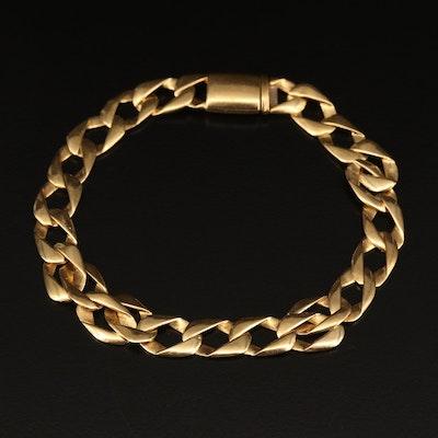 18K Curb Link Bracelet