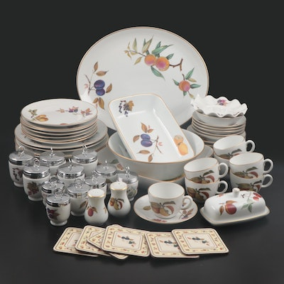 "Royal Worchester ""Evesham Gold"" Porcelain Dinnerware, 1961–2015"