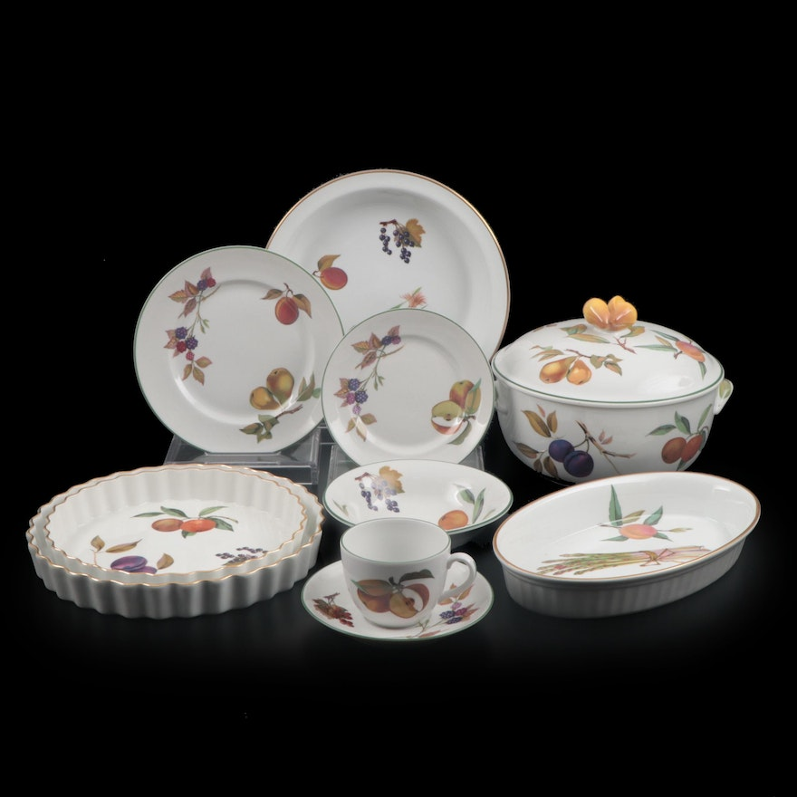 "Royal Worchester ""Evesham Gold"" and ""Evesham Vale"" Bakeware and Dinnerware"