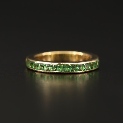 18K Channel Set Tsavorite Band
